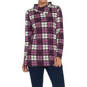 2X Denim & Co. Brushed Heavenly Jersey Tunic Shirt